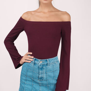 Mez Off Shoulder Bodysuit