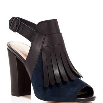 Pour La Victoire Open Toe Pumps - Elyse Kilted High Heel | Bloomingdales's