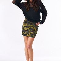 Kickin It Camo Mini Skirt