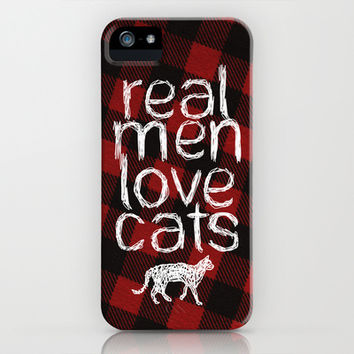 Real Men Love Cats iPhone & iPod Case by Charlene McCoy