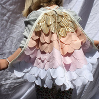 Golden Bird Wings - Large - Costume Girls Dressup