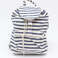 Baggu / Backpack In Navy Stripe