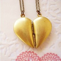 Best Friends Heart Locket Set