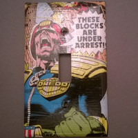 Comic Book Judge Dredd Superhero comic  light switch cover