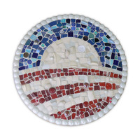 Made to Order China Mosaic Obama Logo        Pique Assiette