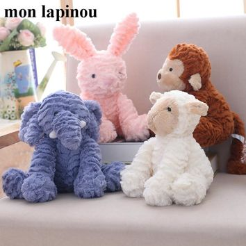25cm plush unicorn/cat /rabbit/sheep/elephant toys stuffed animal soft doll baby kids appease doll high quality children gift