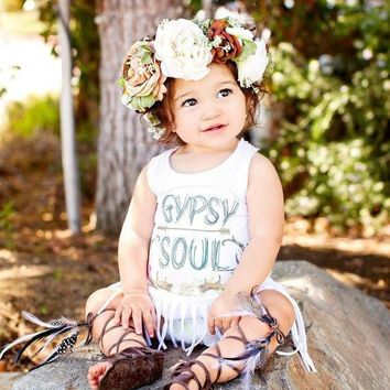 Toddler Girls Boho Gypsy Soul Fringe Top
