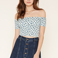 Motel Floral Smocked Crop Top | Forever 21 - 2000222285
