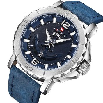Mens Fashion Leather Strap Luxury Watches