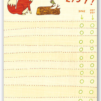 Fox To-Do List Notepad