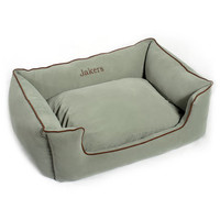 Personalized Microfiber Kuddle Lounge Embroidered Dog Bed