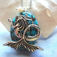 Turquoise Queen of the Sea Necklace | HopesandDreamsStudio - Jewelry on ArtFire