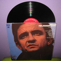 Vinyl Record Album Hello, I'm Johnny Cash LP 1969 Outlaw Country Icon Blues Classics