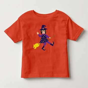 Little flying witch toddler t-shirt