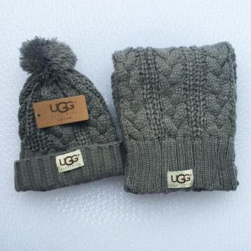 UGG Fashion Winter Knit Women Men Beanies Scarf &Cap