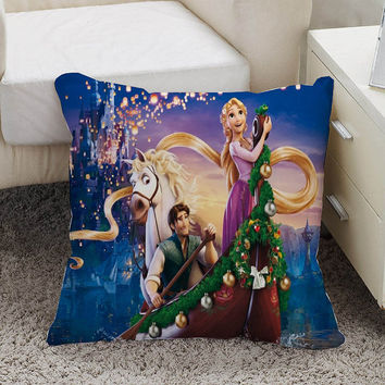 disney tangled Pillow case size 16 x 16, 18 x 18, 16 x 24, 20 x 30, 20 x 26 One side and Two side