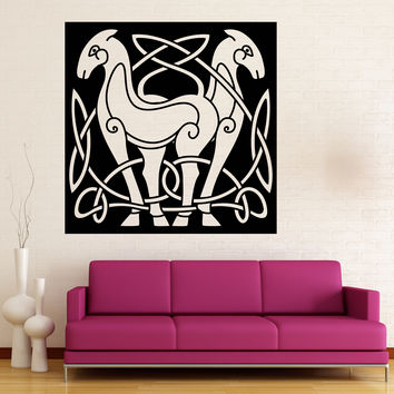 Vinyl Decal Wall Sticker Abstract Animal Horse Celtic Style Image Art Unique Gift (n778)