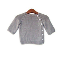 Bamboo newborn sweater. Mink color baby sweater, newborn gift, very soft. Puerperium Cardigan.