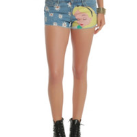 Disney Alice In Wonderland Daisy Denim Cut-Off Shorts