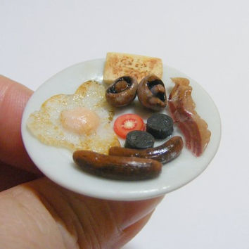 Full English Breakfast Miniature Food Ring  - Miniature Food Jewelry
