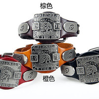 Fashion Punk  Rivets Adjustable Leather Wristband Cuff Bracelet - Great for Men, Women, Teens, Boys, Girls 2708s