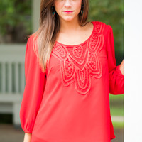 What You Want Blouse, Red