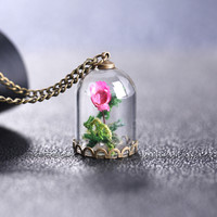 Jewelry Gift Shiny New Arrival Hot Sale Accessory Innovative Glass Stylish Floral Necklace [8026348167]