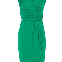 Green waterfall jersey dress - Dresses Sale  - Dresses  - Dorothy Perkins