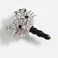 Crystal Hello Kitty Earphone Jack / Dust Plug for Apple Iphone 4, 4s:Amazon:Cell Phones & Accessories