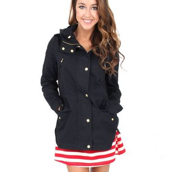 American Honey Navy Anorak Jacket | Monday Dress Boutique