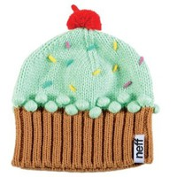 Neff Cupcake Juniors Knit Beanie - Mint