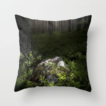 Son of the forest Throw Pillow by HappyMelvin