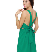 Cute Teal Dress - Sleeveless Dress - $41.00