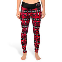 Georgia Bulldogs Women's Aztec Print Leggings