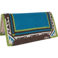 ESP Wool Top Horse Saddle Pad Turquoise/Lime