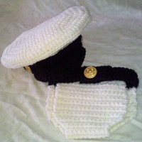 Naval Infant Photo Prop