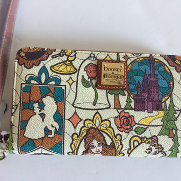 Disney Parks Beauty and the Beast Wallet By Dooney and Bourke New with Tags