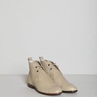 TOTOKAELO - Jil Sander Navy - Lace Up Ankle Boot - Caramel