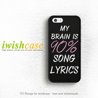 Cool Brain Song Music Cute Funny Quote iPhone 5 5S 5C Case Cover