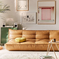 Greta Leather XL Sleeper Sofa | Urban Outfitters