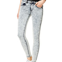 Liv High-Rise Jeggings in Light Acid - Acid Wash