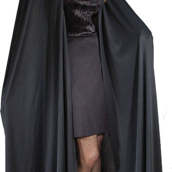 "costume accessory: 68"" hooded black cape 