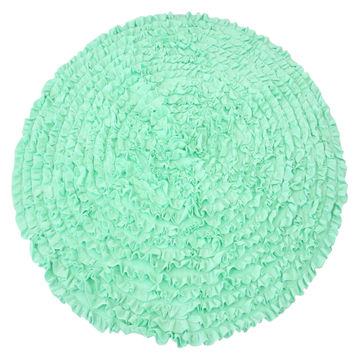 Mint Ruffles - Nursery Rugs (Made to Order. Usually ships in 2-3 weeks)