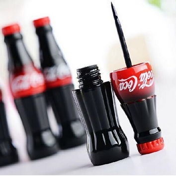 New Brand Cola Style Waterproof Eyeliner Liquid Type Makeup Eye liner Long Last Black Eyeliner MK0148