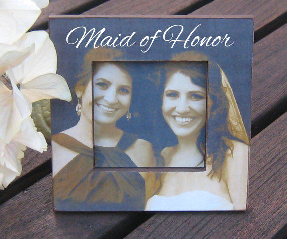 Personalized Maid Of Honor Picture Frame, From
