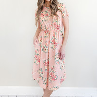 Make Me Blush Midi Dress