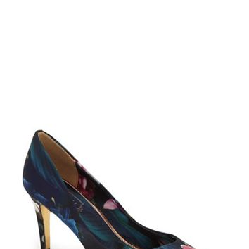 Women's Ted Baker London 'Charmesa 2' Floral Satin Pump,