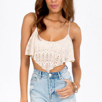 Hippie Dippy Crochet Cropped Tank $21