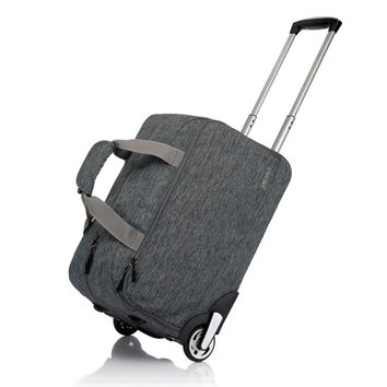 YESO Wheeled Handbag Grey Men's Trolley Travel Bag Light Carry on luggage Check in Bags Rolling Laptop Business Bag