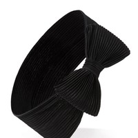 Accordion-Pleated Bow Headwrap